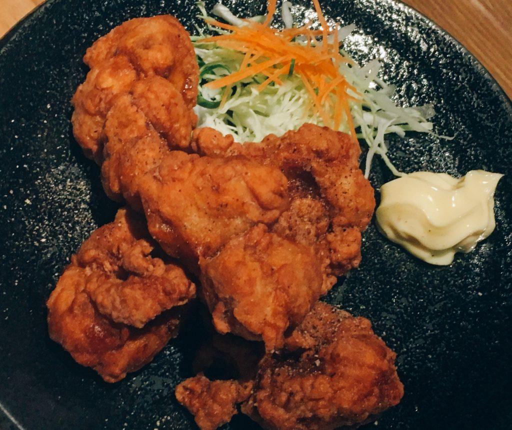 彩菜鶏の唐揚げ